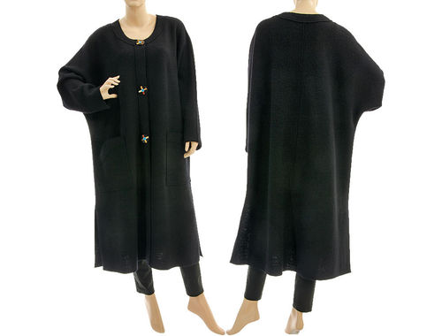 Must have coat to wear all year round, merino wool in black L-XXL
